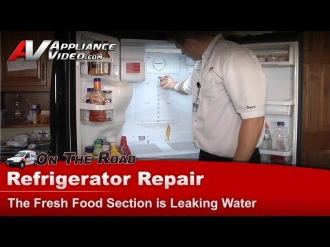 Samsung Refrigerator Diagnostic &  Repair - Fresh food section is leaking water