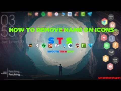 ►How to Remove Name or text on icon new way 2017