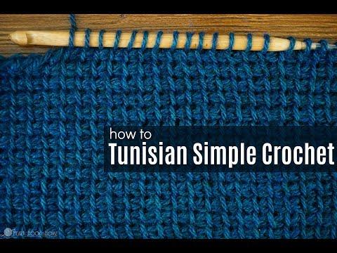 How to Crochet the Tunisian Simple Crochet