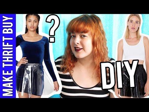 DIY Clear Vinyl Skirt? | Make Thrift Buy #33