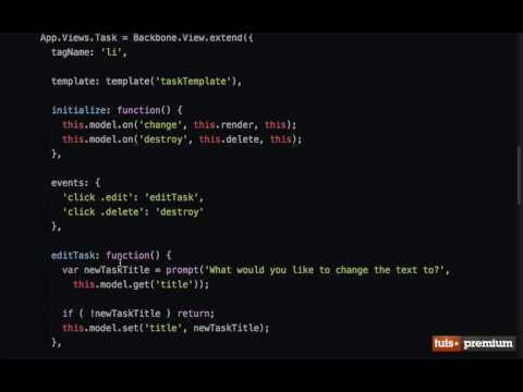 Backbone JS Hands On Tasks Destroying Models - 15 tutsplus