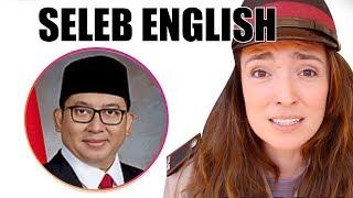Fadli Zon, Nicholas Saputra, Luna Maya   Seleb English