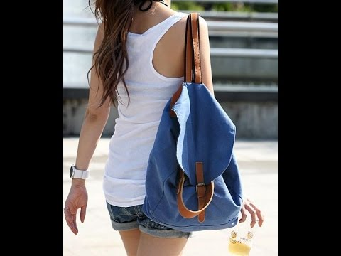 DIY - How to make Backpack (Knapsack) from old jeans ||