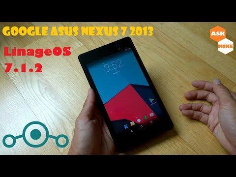 Google Asus Nexus 7 2013 (Flo) Flash Lineage OS 14.1 Android 7.1 Nougat