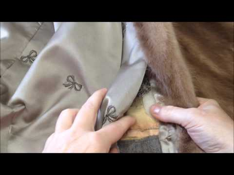 Part 1 :  Making Mink Teddy Bears from a Fur Coat - Video Snippet