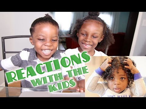 REACTIONS WITH THE KIDS - Baby does his own hair!