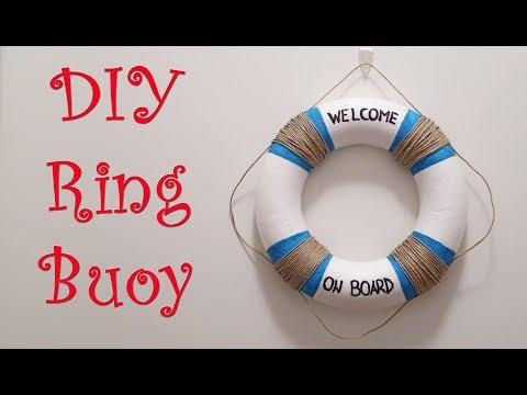 DIY Ring Buoy | DIY Home or Party Decor 🌞