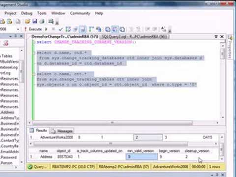 MS SQL Server 2008 - Change Tracker