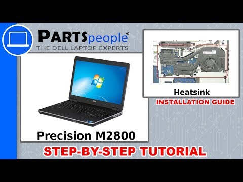 Dell Precision M2800 (P29F001) Heatsink How-To Video Tutorials