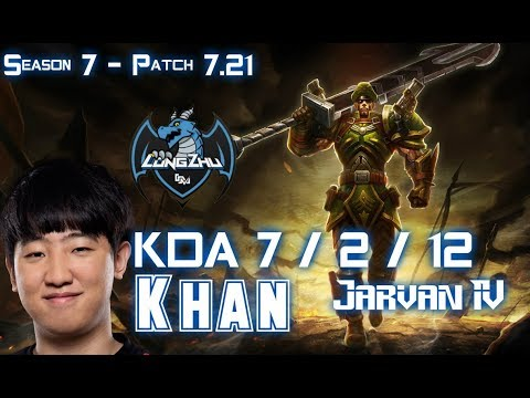 LZ Khan JARVAN IV vs YASUO Top - Patch 7.21 KR Ranked