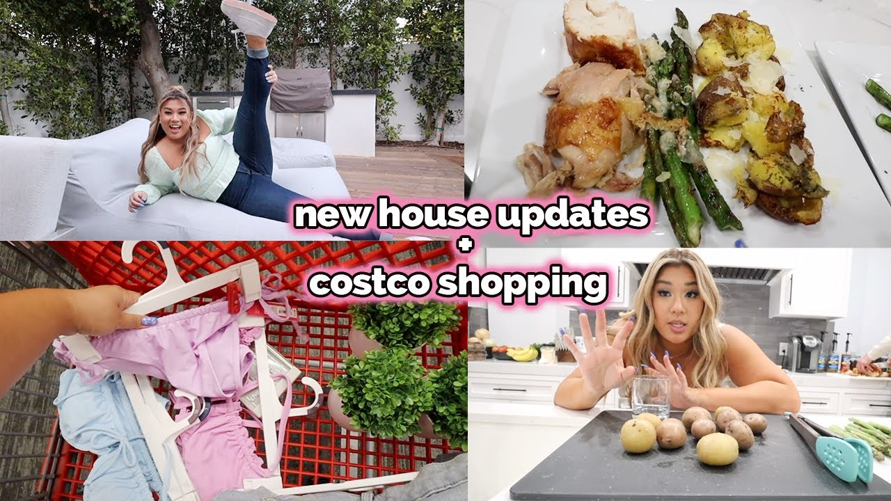 costco shopping + new house updates!!