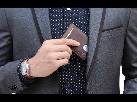 SERMAN BRANDS 1.0 - The #1 Rated RFID Blocking Minimalist Front Pocket Wallet | Best wallet for men