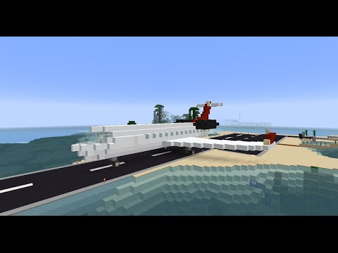 Minecraft- private jet tour tutorial how to build
