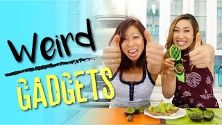 Testing Weird Kitchen Gadgets! Banana slicer, Avocado Slicer, Herb Scissors!?
