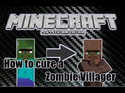 Minecraft PS3: How to Cure a Zombie Villager! 1.04 (TU14)