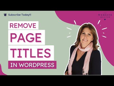 Remove Page Titles in WordPress