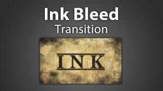 Ink bleed effect