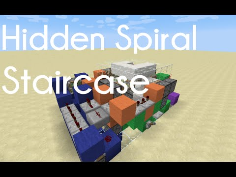 Hidden 3x3 Spiral Staircase [Tutorial] *Expandable & Compact!