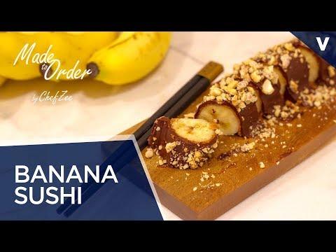Banana Sushi | No Bake Desserts | Vegan Desserts | Made To Order | Chef Zee Cooks