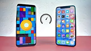 Samsung Galaxy S8 Android 8.0 Oreo vs iPhone X - Speed Test! (4K)