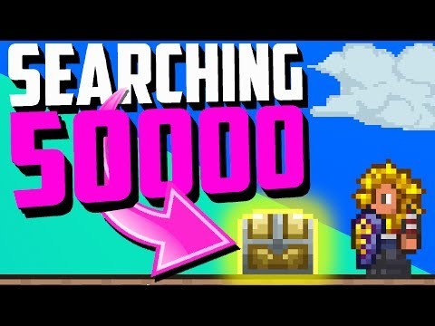 Terraria Fun Facts - Legendary Weapons & Their Rarity! (50000 Chests Searched!)