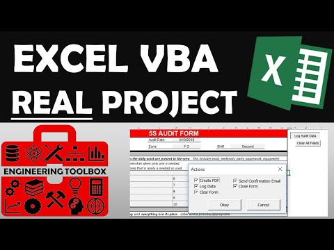 Exploring Excel VBA with Real Project Example (5S Audit form, Create PDF, Send Email, Log Data)