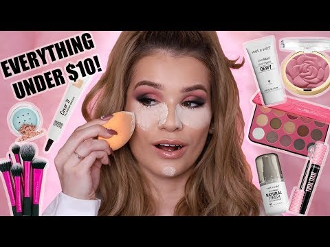 FULL FACE NOTHING OVER $10! | AFFORDABLE Makeup Tutorial