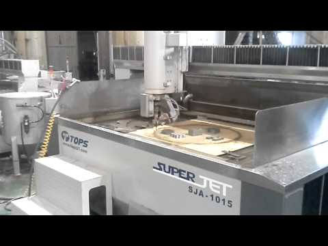 Gasket cutting test with TOPS Waterjet system