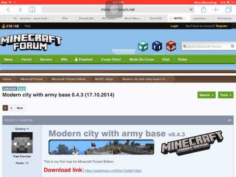 How to get mcpe maps (NO JAILBREAK OR PC)