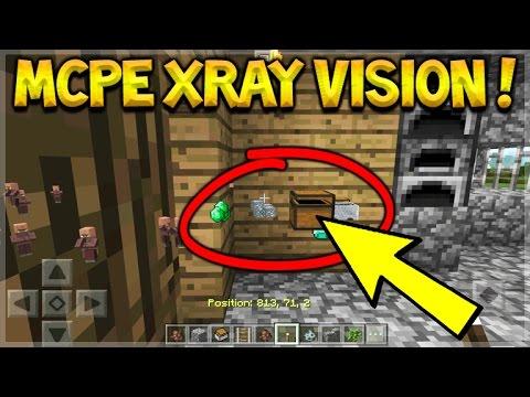 MCPE XRAY VISION!! Minecraft Pocket Edition - NEW XRAY VISION ADDON! (Pocket Edition)