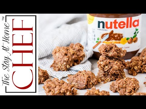 Peanut Butter Nutella No Bake Cookies