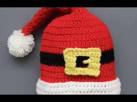 How to a Crochet a Santa Hat (Beginner Level)