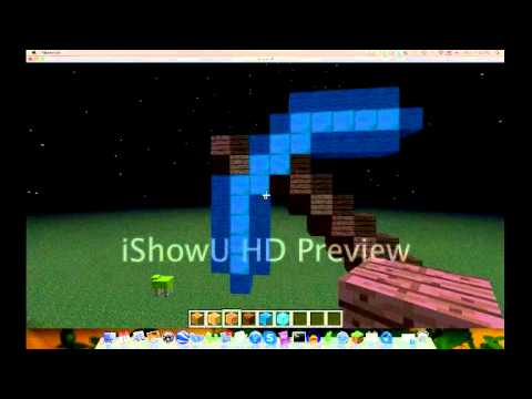 Minecraft: How to Build a Diamond Pickaxe Statue