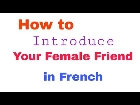 How to Introduce Someone ( Female ) | Learn French in Hindi