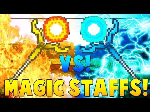 MAGIC STAFFS MOD Dark Magic Spells   Minecraft - Mod Battle