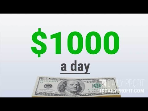 How To Make Money Online 1000 Dollars A Day Easy !