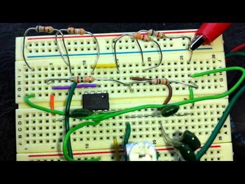 Integrator circuit simulation on MultiSim Simulator using