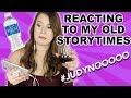 REACTING TO MY OLD STORYTIMESA JUDY UPDATE