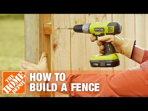 How to Build  a Fence Part 3 - The Home Depot