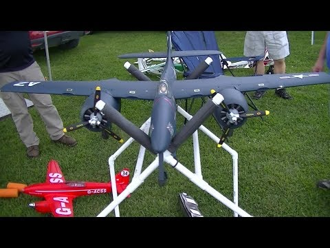 WOW RC CRASHes by LOADS F7F Tigercat New RC Planes Crazy Flying Monkeys in the Air