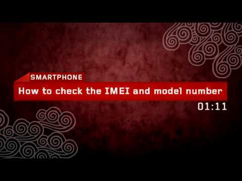 How to check the IMEI and model number