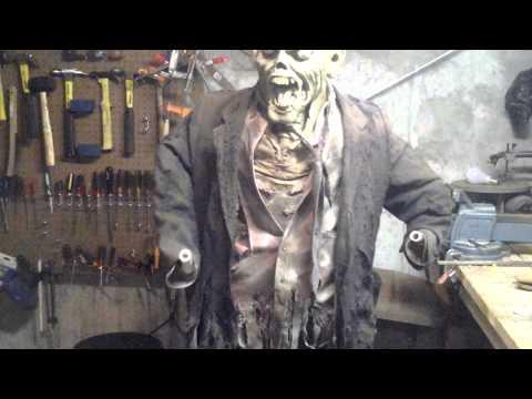 DIY Animated Shiatsu Zombie Halloween Prop Full Build