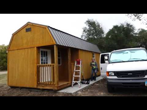 Living off grid in a Tiny Shed : First Look