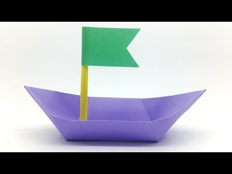 Paper Boat for Kids - How to make an Origami Boat easy step by step