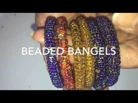 beaded bangles/D-I-Y PROJECT