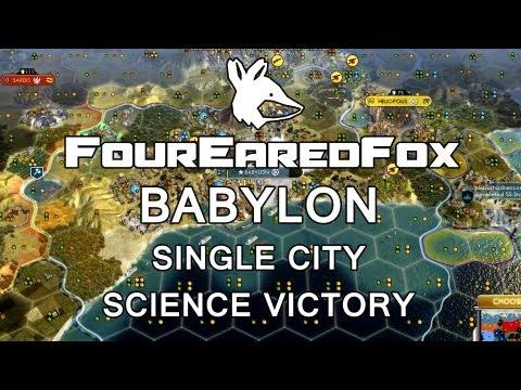 CIVILIZATION V: Babylon single city SCIENCE VICTORY Quick Guide