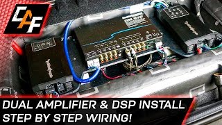 Car Audio Wiring Dual Amplifier And Dsp Install