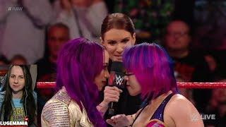 WWE Raw 1/29/18 Sasha Banks interrupts AsukaMANIA