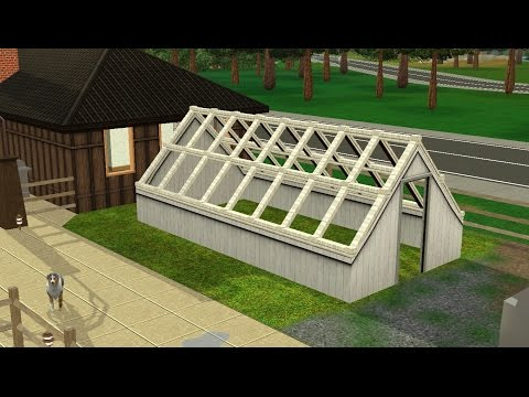 Sims 3 Tutorials | How to build a greenhouse.