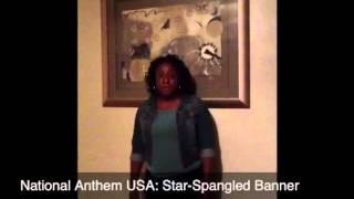 Jasmine B. National Anthem USA: Star-Spangled Banner